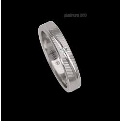 Woman ring / wedding ring in 950 platinum rows surface model Pt_eb5330ew