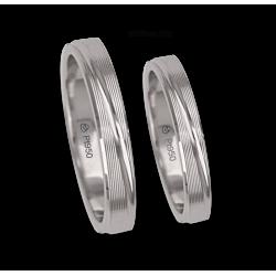 Fedi nuziali in platino 950 superficie rigata modello Pt_eb5330_bis
