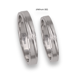 950 Platinum wedding rings striped surface model Pt_eb5330_bis
