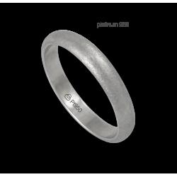 Anello in platino 950 superficie bombata finitura ghiacco modello pt_jb24-20ew