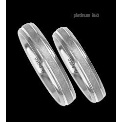 Fedi nuziali in platino 950 finitura centrale ghiaccio modello Pt_jb240234ew_ew