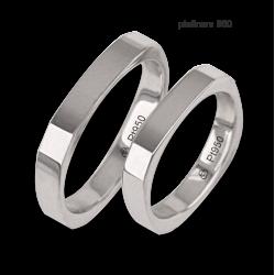 Fedi nuziali in platino 950 forma quadrata modello Pt_ab537324ew_ew
