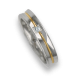 Ring / wedding ring in gold 18k white - rose - white polished finish one diamant model ap046524dw
