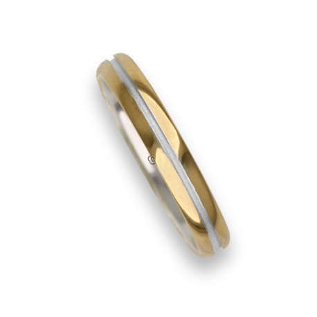 Ring / wedding ring in gold 18k two-tone rose and white model vo532624ew