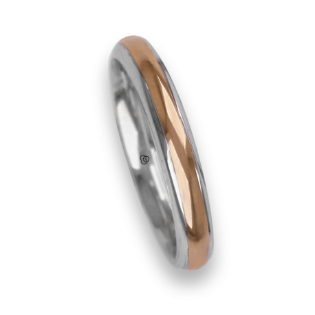 Ring / wedding ring in gold 18k two-tone white and yellow polished finish model al042924ew