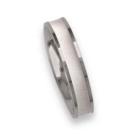 Ring / wedding ring in white gold 18k polished and soft point diamant model ggb549234ew
