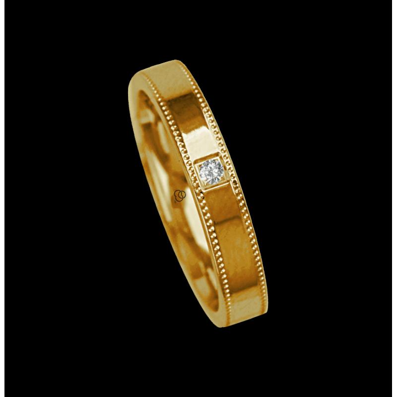 Ring / wedding ring 18 carat white gold polished finish one diamant model ab535634dw