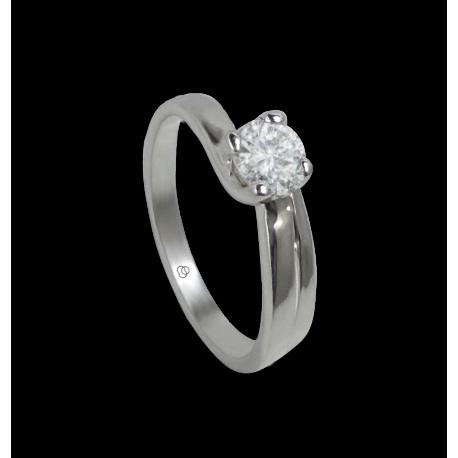 Кольцо из белого золота - алмаз 0.50 ct - модели Родриго