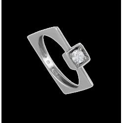 Solitaire ring in white Gold - diamond 0.25 ct - model Mattia