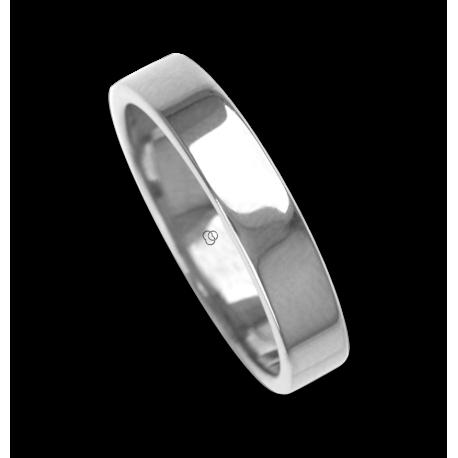 Ring / wedding ring 18 carat white gold flat surface and polished model ab54406ew