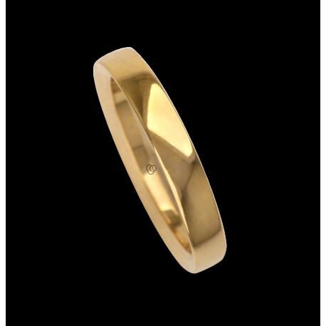Ring / wedding ring 18 carat white gold flat surface internal bevelled edges model ab63179ew
