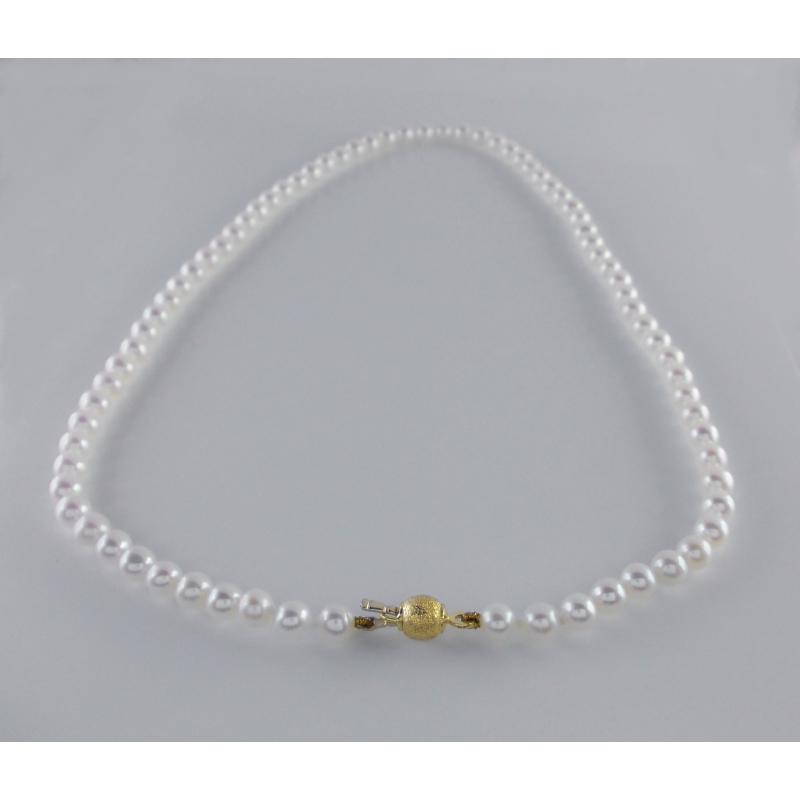 Collana girocollo con perle bianche - modello Dream