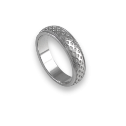 White gold celtic ring rounded surface sandblasted finish model th18b