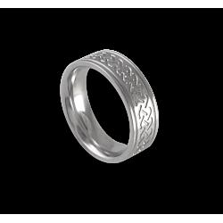 White gold celtic ring flat surface polished finish model th1p_uomo