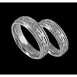 White gold celtic wedding bands, sandlasted finish, model th26b