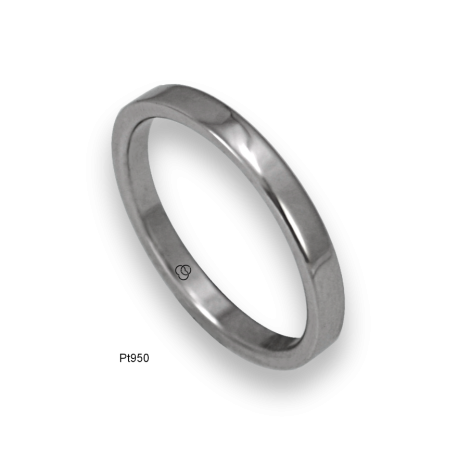 Platinum ring flat surface polished finish model ab82-50tpw
