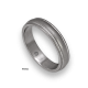 Platinum ring rounded surface with two shiny channels model ab82-50tpw_d
