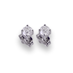 Point of light diamonds earrings in white gold 18k - Model Subtle