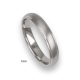 Platinum ring, rounded surface, vertical satin finish and polished at the sides, model bb63-41tp_u