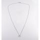 Girocollo punto luce in oro bianco 18 kt e diamanti - modello Subtle