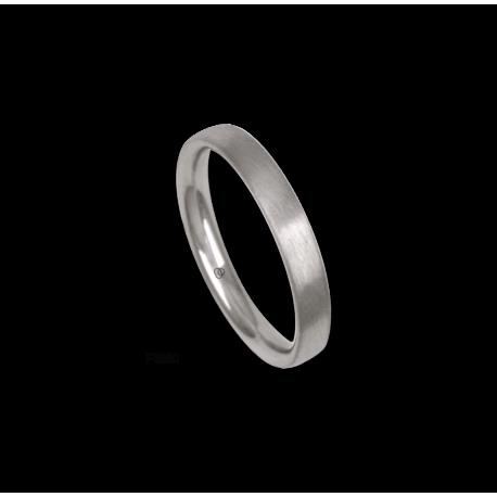 Platinum ring, rounded surface, satin finish, model bb33-12tp_d