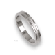 Platinum ring, polished finifish at the sides and sandblasted at the center, model vb63-81tp_u