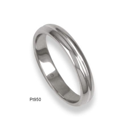 950 Platinum ring / wedding ring, polished finish, model ab83-91tp_u