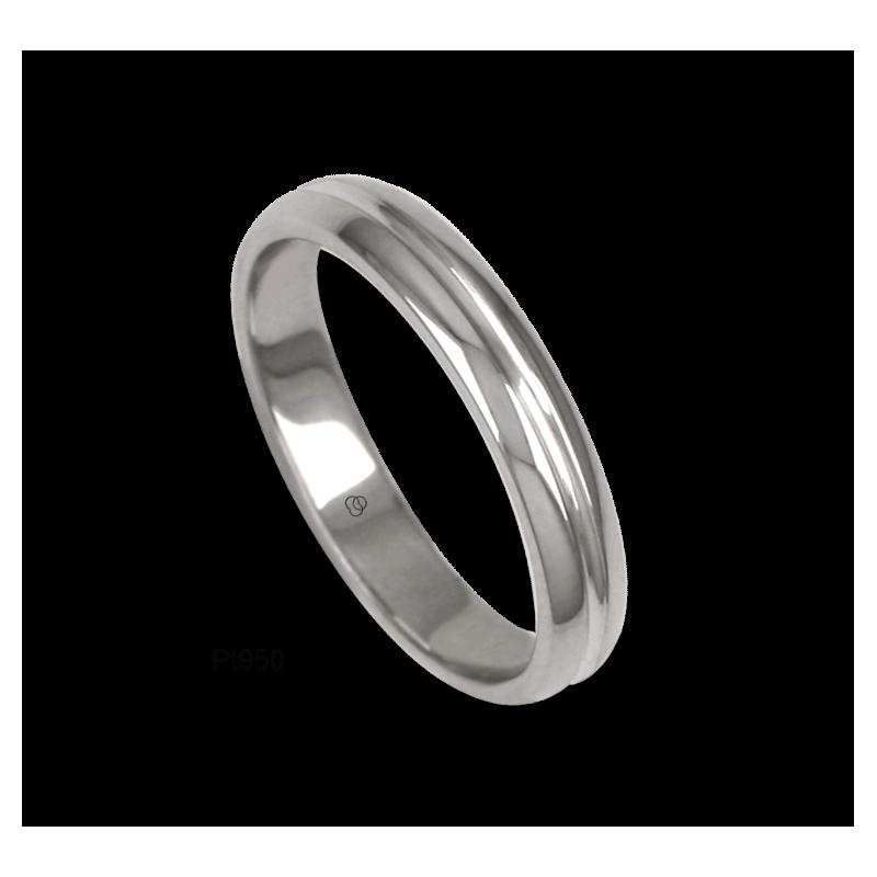950 Platinum ring / wedding ring, polished finish, model ab83-91tp_u