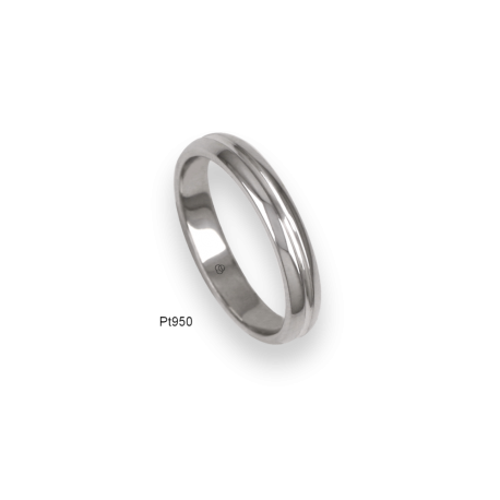 950 Platinum ring / wedding ring, polished finish, model ab83-91tp_d
