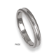 950 Platinum ring / wedding ring, soft brush finish at the sides and polished at the center, model mb63-61tp_u