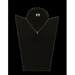 Collana e orecchini punto luce con diamanti bianchi