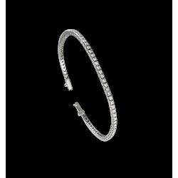 Теннисный браслет из белого золота 18 карат и белыми бриллиантами - Модель White