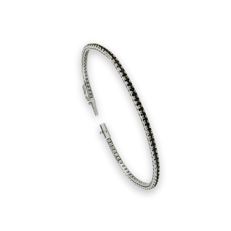 Diamonds Tennis Bracelet in white gold - black diamonds - Model Black