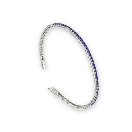 Diamonds Tennis Bracelet in white gold and sapphires - Model Sapphires