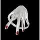 Anello donna fantasia in oro bianco con diamante - modello hand