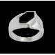 Anello uomo in oro bianco con Onice nero - modello Onyx2