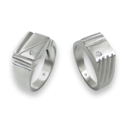 men wedding rings in white gold with white diamond