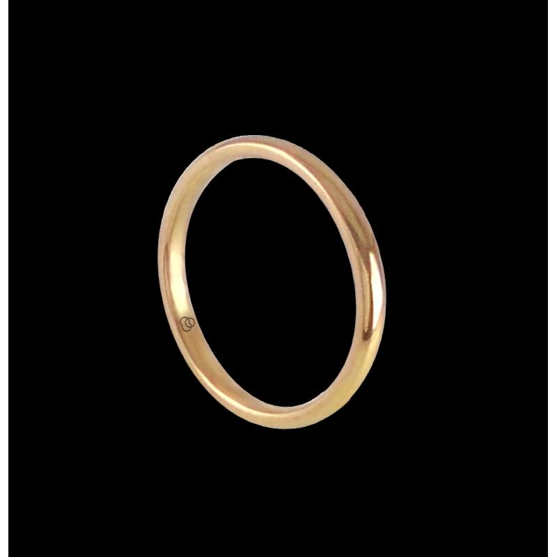 Кольцо/обручальное кольцо из 18-каратного желтого золота модель ag0258lew