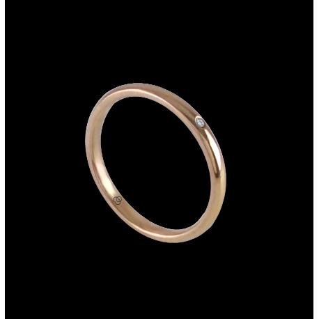 Anello in oro rosa 18 kt con diamante modello ar0258ldw
