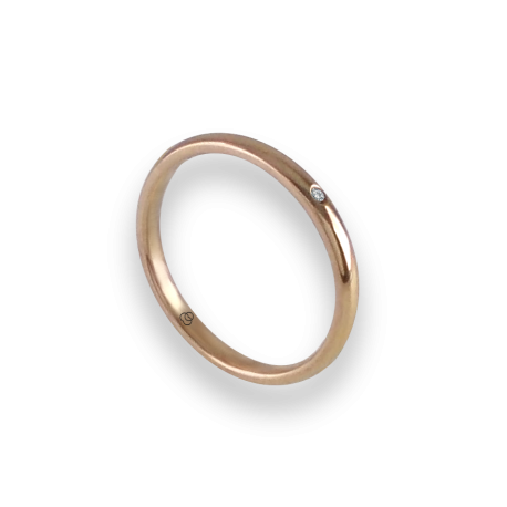Ring in rose gold 18k with diamond model ar0258ldw