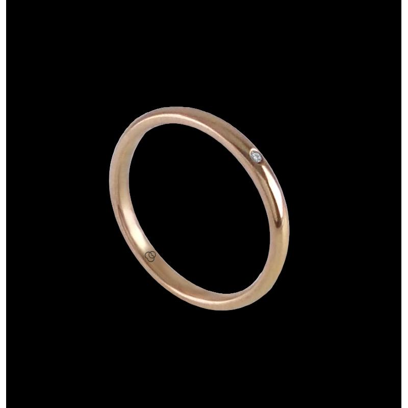 Ring in rose gold 18k with diamond model ar0258ldw
