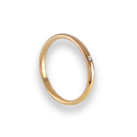 Ring in yellow gold 18k with diamond model ag0258ldw