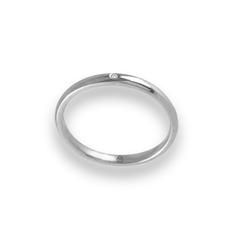 Ring in white gold 18k with diamond model ab0258ldw