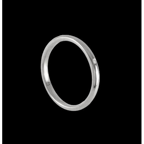 Anello in oro bianco 18 kt con diamante modello ab0258ldw