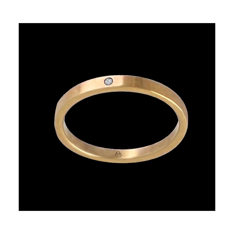 Anello in oro giallo 18 kt con diamante modello ag1268ldw