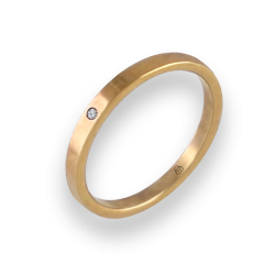 Ring in yellow gold 18k with diamond model ag1268ldw