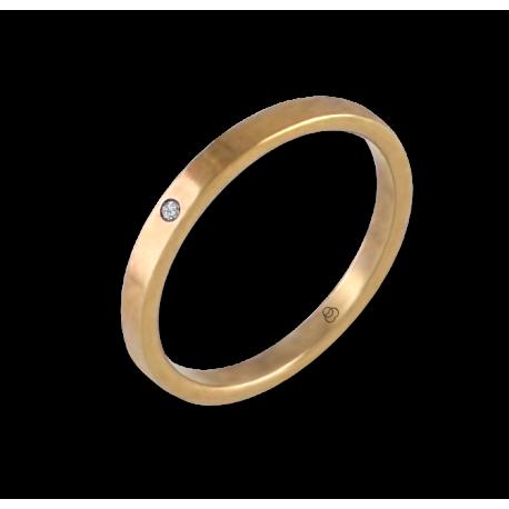 Кольцо из желтого золота 18 карат с бриллиантом модель ag1268ldw