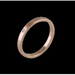 Ring in rose gold 18k with diamond model ar1268ldw
