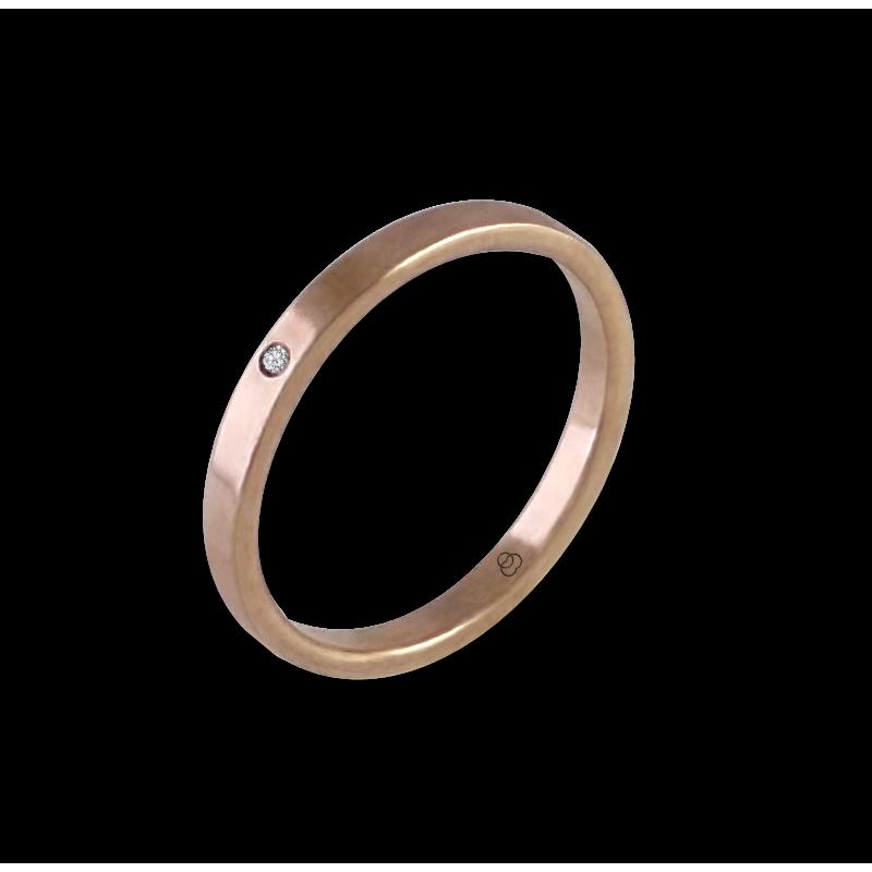 Кольцо из розового золота 18 карат с бриллиантом модель ar1268ldw