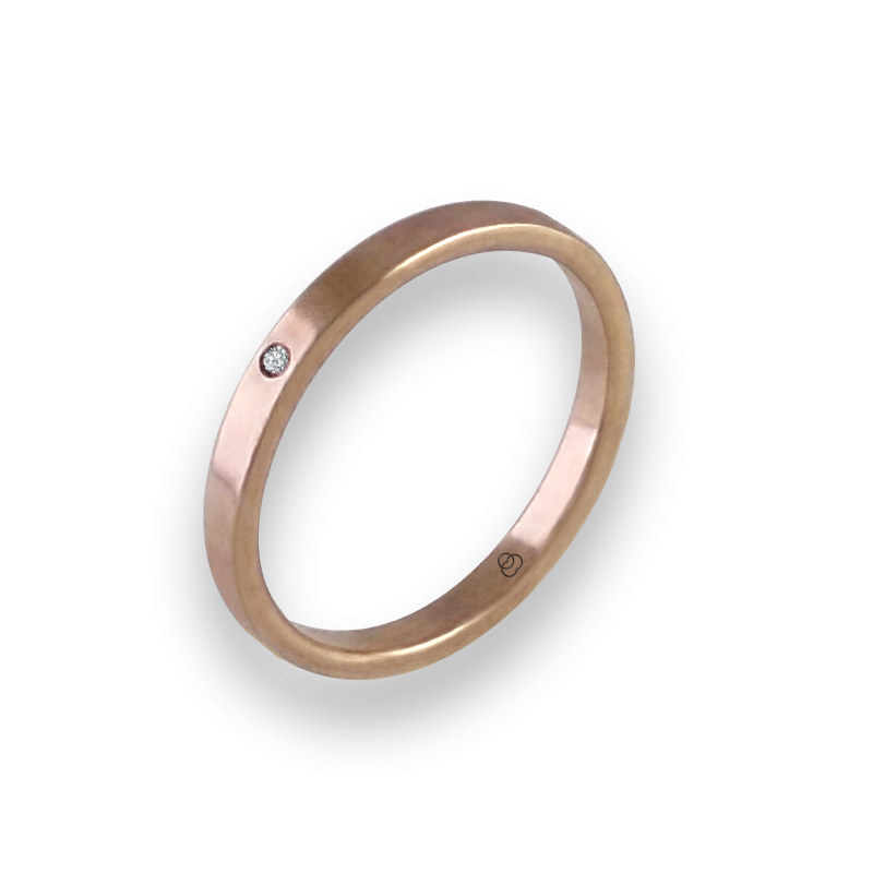 Ring in rose gold 18k with diamond model ar1268ldw